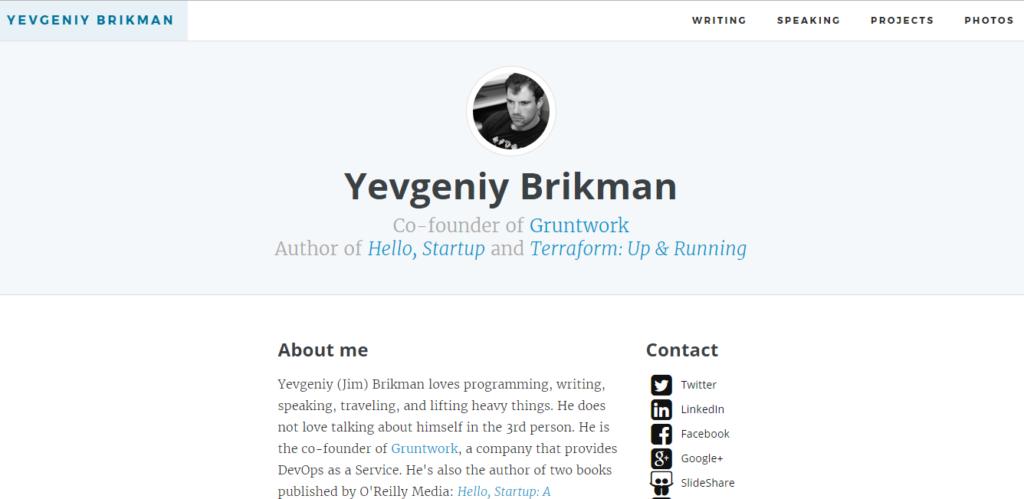 Сайт портфолио веб разработчика 4
