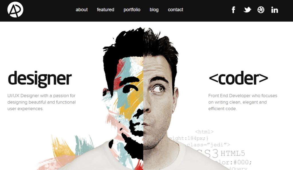 Сайт портфолио веб разработчика 8