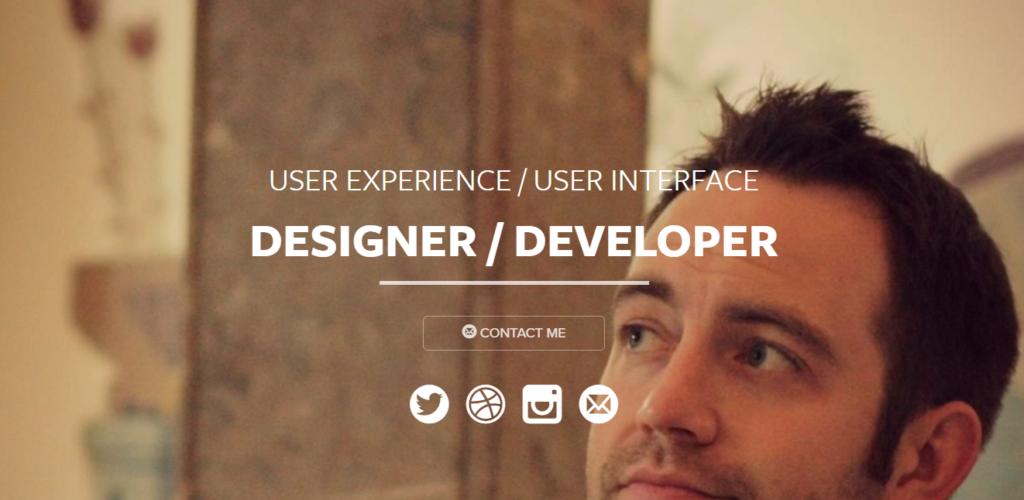 Сайт портфолио веб разработчика 9
