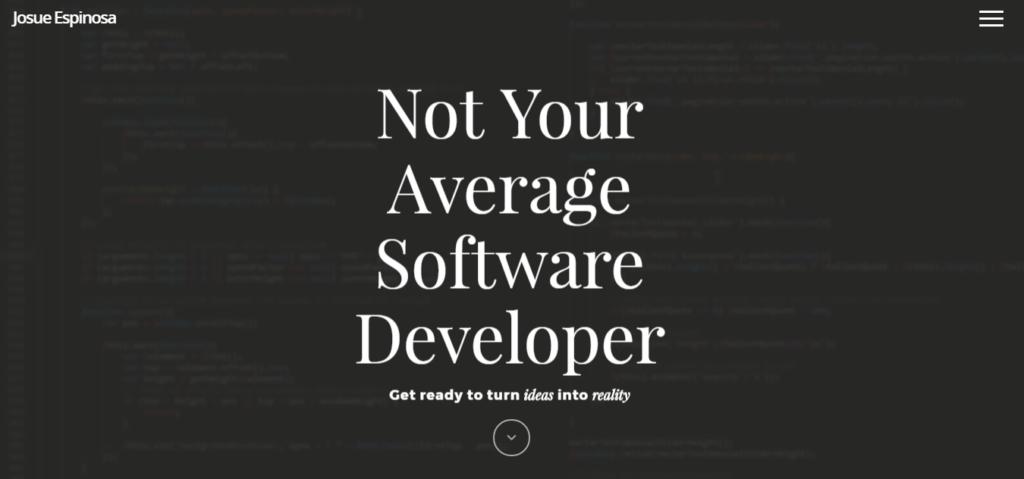 Сайт портфолио веб разработчика 3