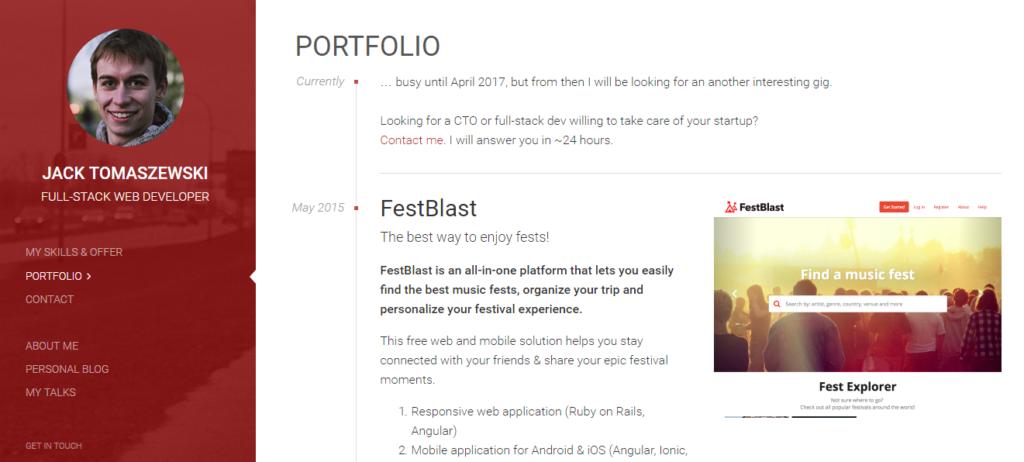 Сайт портфолио веб разработчика 6