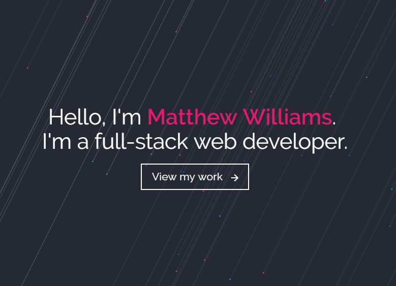 Сайт портфолио веб разработчика 1