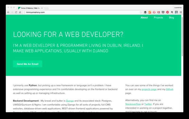 сайт портфолио веб разработчика