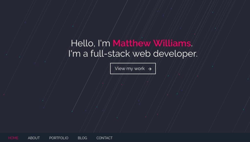 Сайты портфолио веб разработчика примеры 1