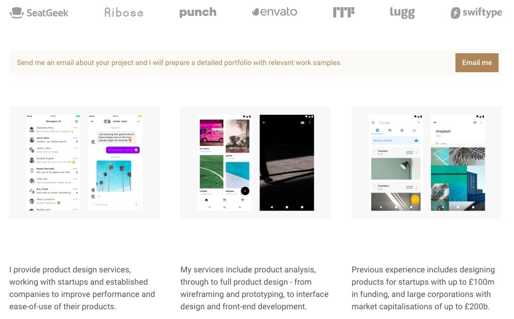 сайт портфолио веб разработчика примеры
