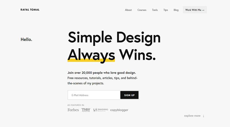 25 эффективных веб-сайтов-портфолио веб-дизайна 7