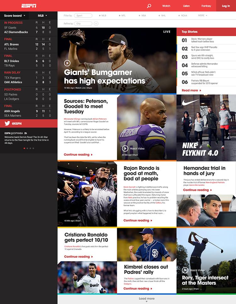 Вдохновение: 14 дизайнов спортивных сайтов - август 3