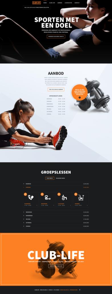 Вдохновение: 14 дизайнов спортивных сайтов - август 2