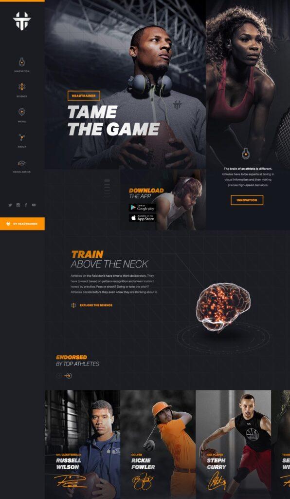 Вдохновение: 14 дизайнов спортивных сайтов - август 13