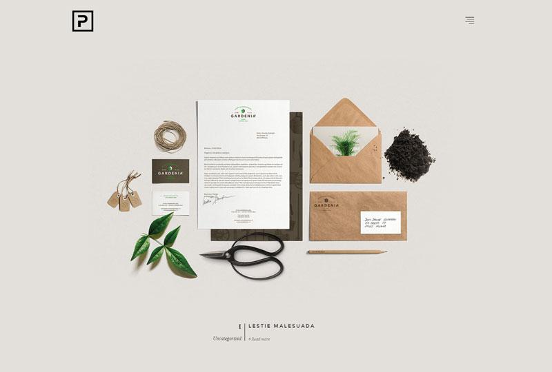минималистичный дизайна сайтов