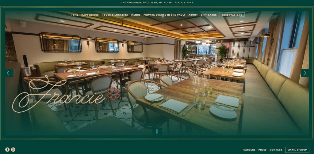 сайты для ресторанов