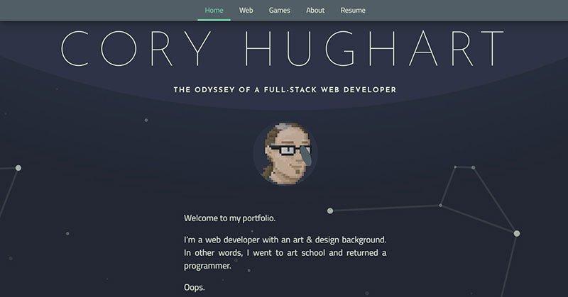 Лучшие примеры портфолио веб-разработчиков 1